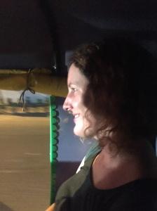Catherine in a Delhi Tuk-Tuk
