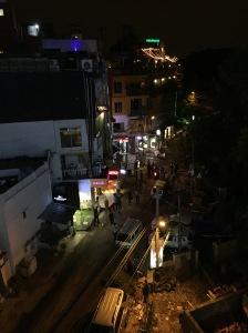 A view from a rooftop bar in Hauz Khas Village, Delhi