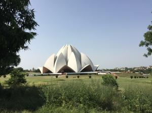 The Lotus Temple in South Delhi
