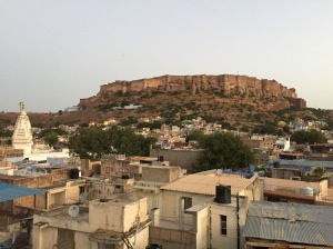 A view of Mehrangarh Fort from The Blue House