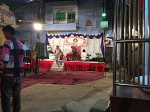 Ganesh festival stage in Jodhpur, Rajesthan
