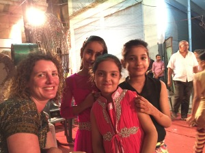 Catherine and Girls at Ganesh festival, Jodhpur