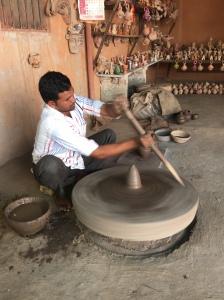 Muslim Potter at work in Rajasthan