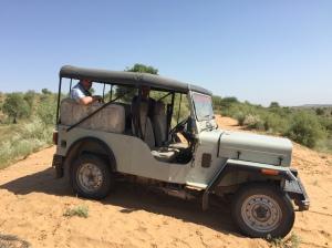 A trusty Mahindra Jeep