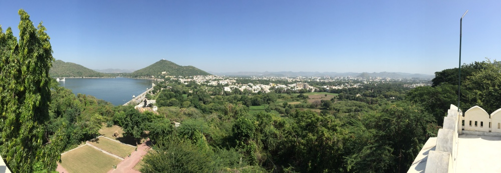 A panorama of Udaipur