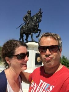 Selfie at the Pratap Singh Monument, Udaipur
