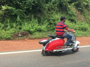 A Beautiful Lambretta Li Series 2 in Goa, India