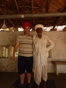 Robin wearing a Turban at the Bishnoi village