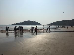 On-shore fishing on Palolem Beach, Goa