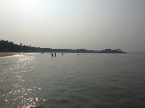 View from the north end of Palolem Beach, Goa