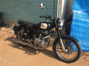A Royal Enfield 350 Bullet