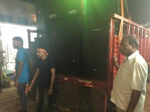 A large sound system on a truck in Palolem, Goa