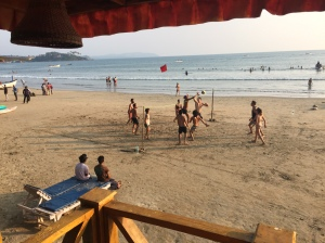 Volleyball on Palolem beach, Goa