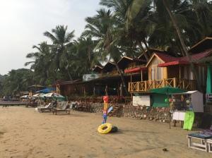Brandons beach resort on Palolem beach, Goa