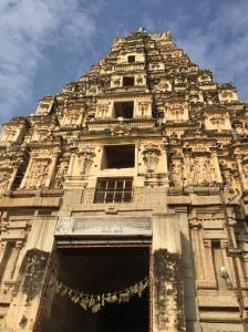 The giant East Gopura of the Virupaksha temple, Hampi