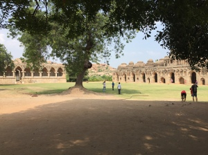 The magnificent Elephant Stable in complex in the Royal Centre complex at Hampi