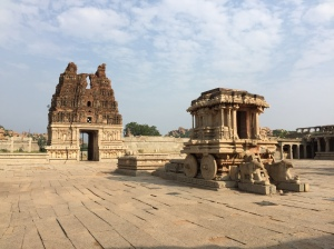The stone chariot at Vitthala temple, Hampi