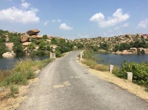 A bridge at the Tungabhadra reservoir, Hampi, Karnataka