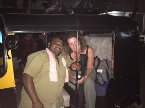 Raj and Catherine in Prajwal the tuk-tuk