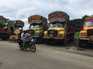 Painted trucks in Kochi, Kerala