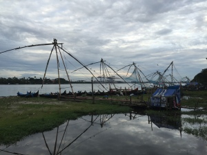 4 chinese fishing nets, located in the Fort Cochin, Kerala