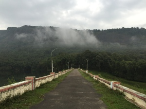 Dam wall in Parambikulam Tiger Reserve