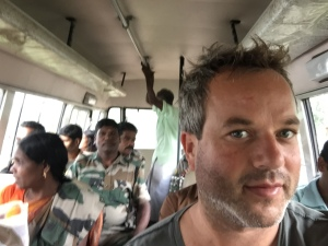 Rob on Parambikulam Tiger Reserve work bus
