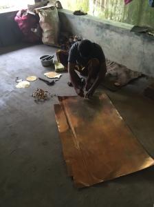 The mirror workshop in Aranmula