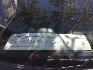 A welcome ot Sri Lanka sign