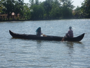 narrow canoe used by locals to go about their normal daily business